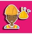 man construction tool helmet vector image