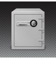 Icon metal box on transparent background Safe vector image vector image