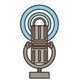 cartoon vintage microphone vector image