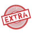 Extra stamp rubber grunge vector image