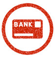 bank card rounded grainy icon vector image