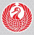 japanese crane vector image