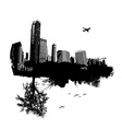 City combined with nature vector image vector image