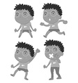 Boy with eyeglasses vector image vector image