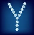 diamond alphabet letter y vector image vector image