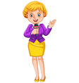 Female reporter reporting news vector image vector image