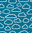 White cloud icons seamless background vector image