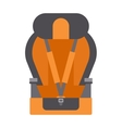 Baby car seats cartoon flat colored vector image