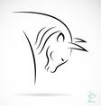 Bison vector image