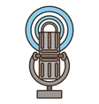 cartoon vintage microphone vector image