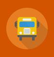 Education Flat Icon School Bus vector image