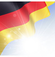 national flag of germany waving in the wind vector image