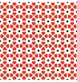 Seamless geometric pattern with hearts and dots vector image