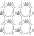 black and white seamless pattern with pomegranates vector image