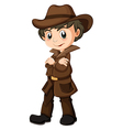 A young detective vector image vector image