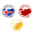 made in Iceland stamp vector image