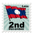 post stamp of national day of Laos vector image