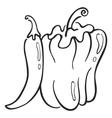 paprika symbol vector image vector image