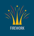 Abstract logo fireworks in the form of a crown vector image