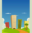 apartments and offices building vector image
