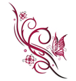 Cherry blossoms butterfly vector image