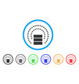database sphere shield rounded icon vector image