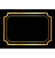 Gold frame Beautiful simple design vector image