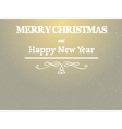 merry christmas nad happy new year background vector image
