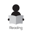 Reading Icon vector image