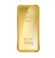 realictick gold bar on the white background vector image