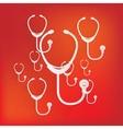 stethoscope icon medical background vector image