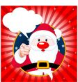 santa claus pointing vector image vector image