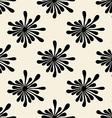Retro Black Floral Pattern vector image
