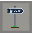 flat shading style icon cafe sign vector image