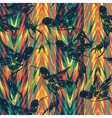 Tropical seamless pattern with bird vector image