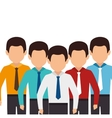 businessmen characters avatar isolated vector image