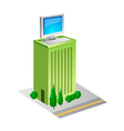 icon building vector image