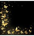Frame of golden butterflies vector image