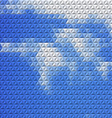 Abstract background with mosaic clouds vector image