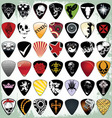 Guitar pick set vector image