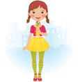 Lollipop girl vector image vector image
