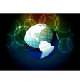 earth globe with bokeh background vector image