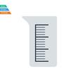 Flat design icon of chemistry beaker vector image
