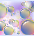 abstract colorful bubbles rising on soft vector image