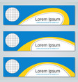 abstract yellow-blue banners templates vector image