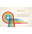 Colored stripes with circles vector image