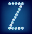 diamond alphabet letter z vector image