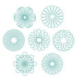 geometric circular ornament spirograph flower vector image