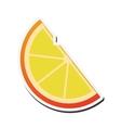 lemon slice icon vector image