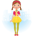 Lollipop girl vector image